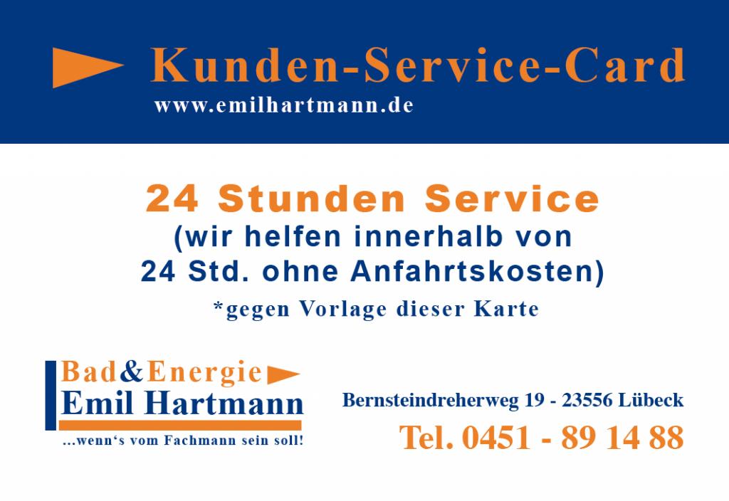Badsanierung Lübeck Notdienst Sanitär Kunden Service Karte
